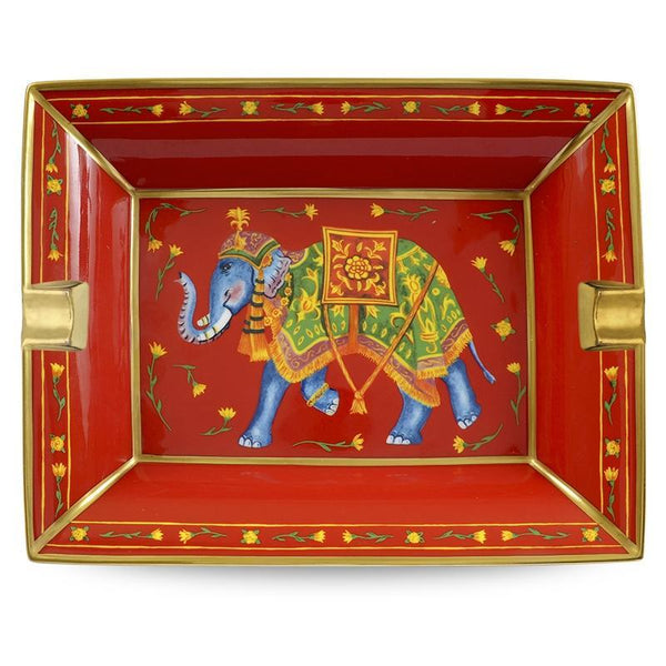 Ceremonial Indian Elephant Red Ashtray