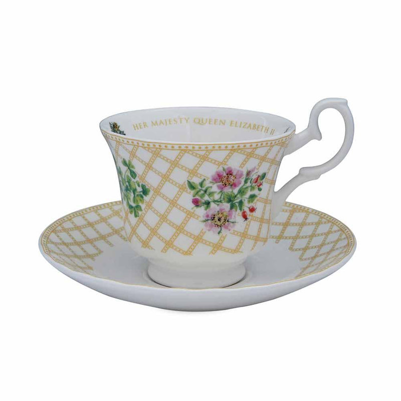 Flowers Of The Realm Teacup & Saucer
