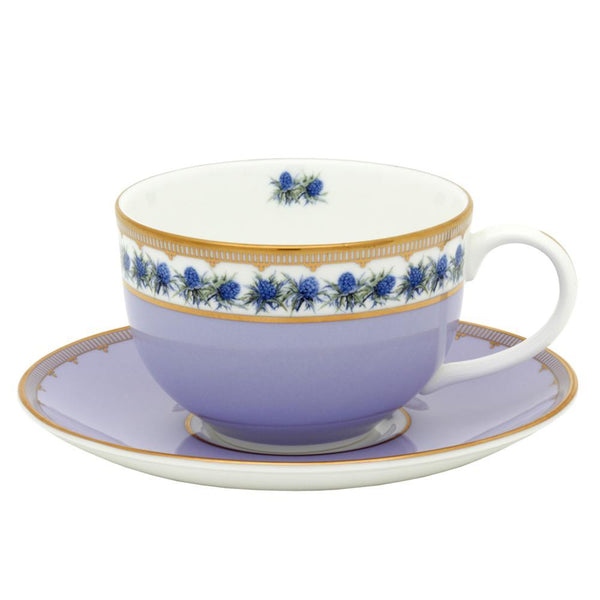 Shell Garden Floral Thistle Teacup & Saucer