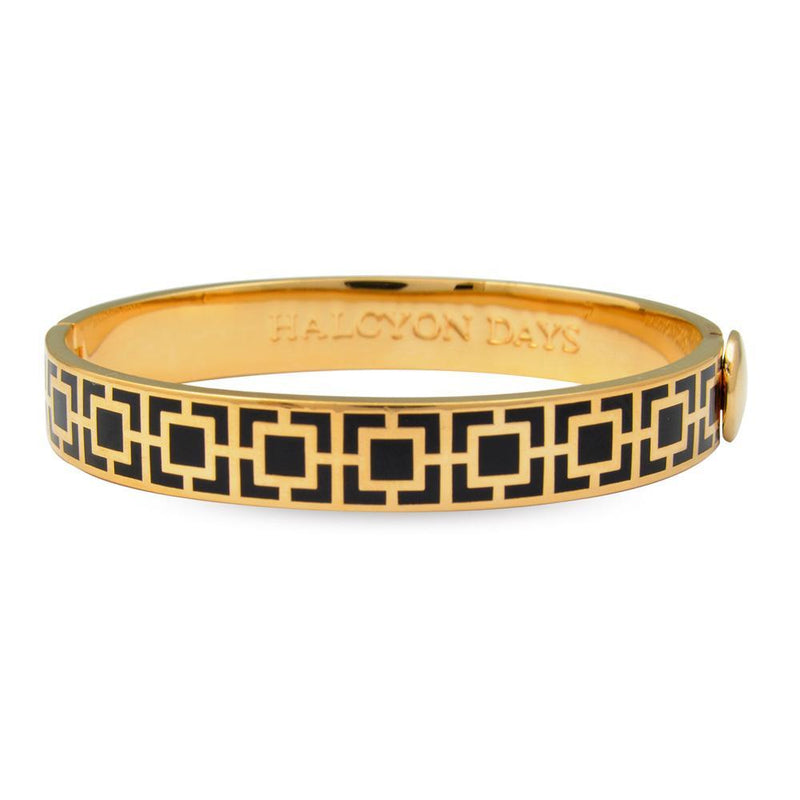 Mosaic Black & Gold Bangle