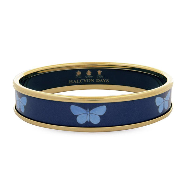 Butterfly Navy & Gold Bangle