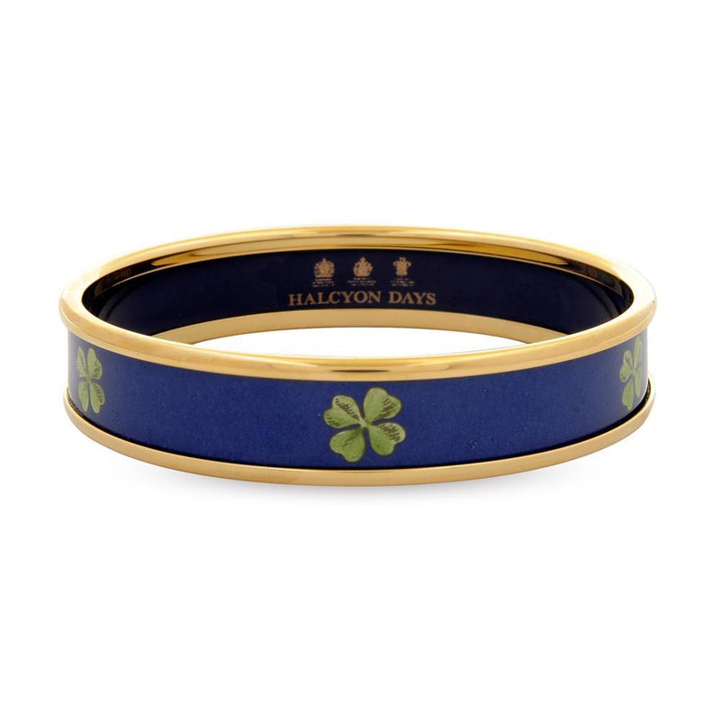 Four Leaf Clover Bangle Navy