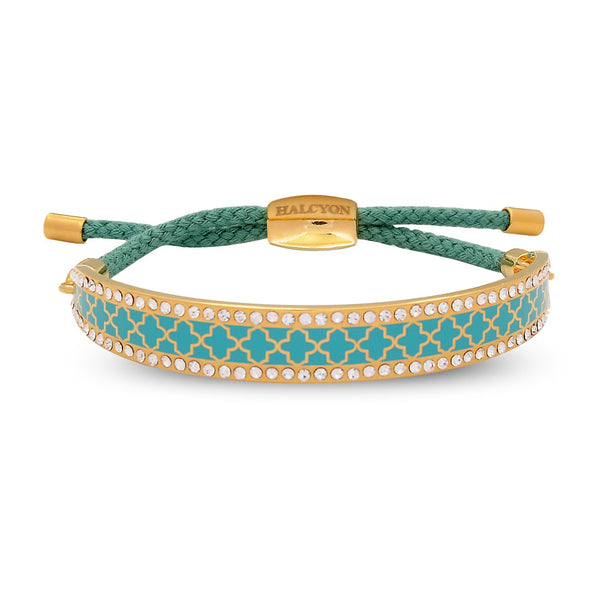 Agama Sparkle Turquoise & Gold Friendship Bangle