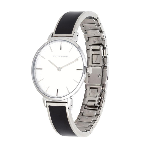Maya Plain Black & Palladium Watch