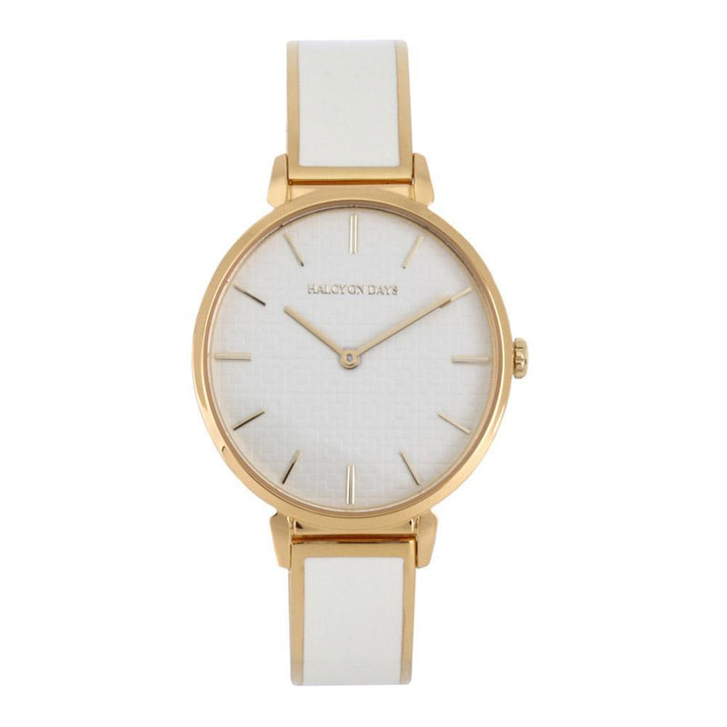 Maya Plain Cream & Gold Watch