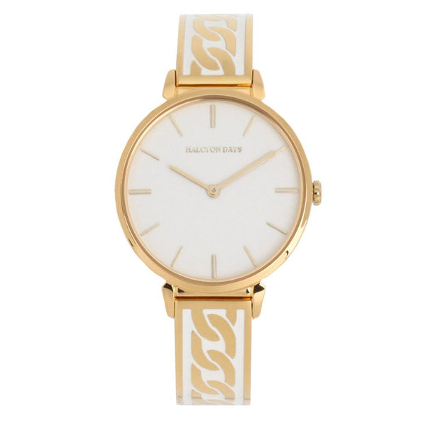 Curb Chain Cream & Gold Watch