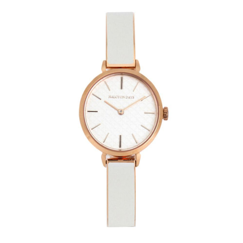 Agama Plain Cream & Rose Gold Watch