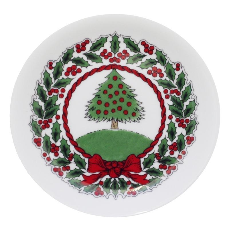 Vintage Christmas Tree White Coaster