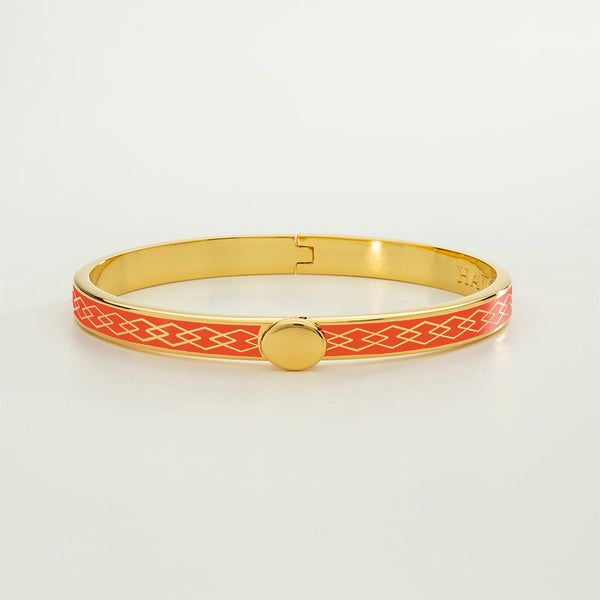 Skinny Parterre Chain Orange & Gold Bangle