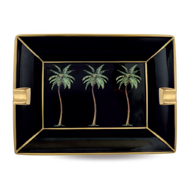 Palm Black Ashtray
