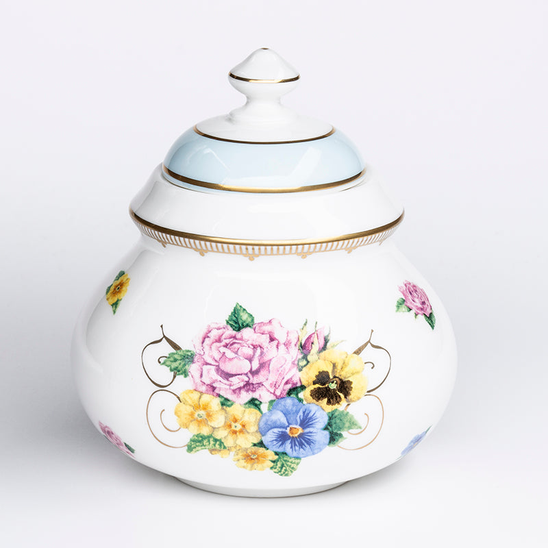 Shell Garden Covered Sugar Pot