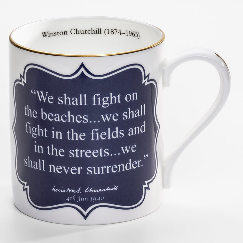 We Shall Never Surrender Mug