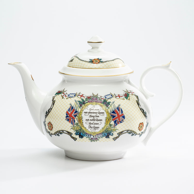 Vivat Regina Ivory Early Morning Tea Pot