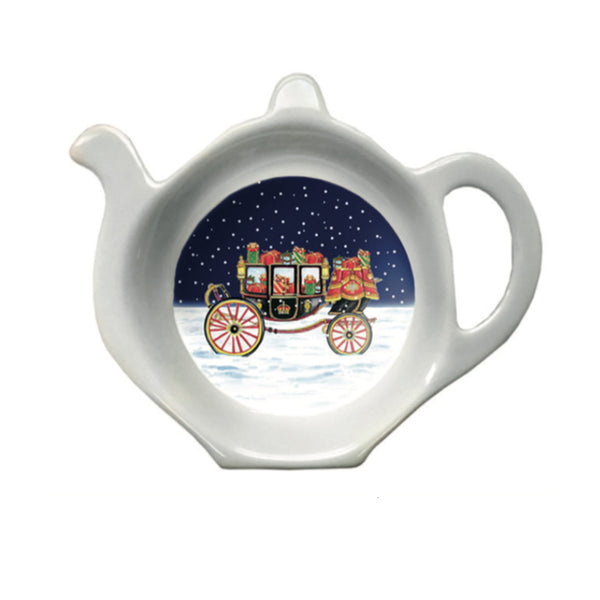Carriage in the Snow Tea Bag Tidy