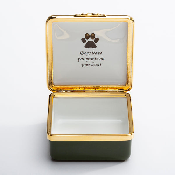 Dogs Leave Pawprints On Your Heart Box