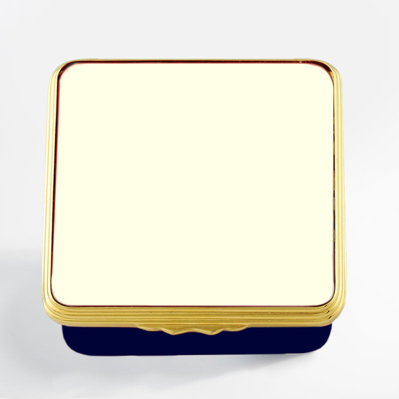 Blank Canvas Ivory & Navy Gold Box