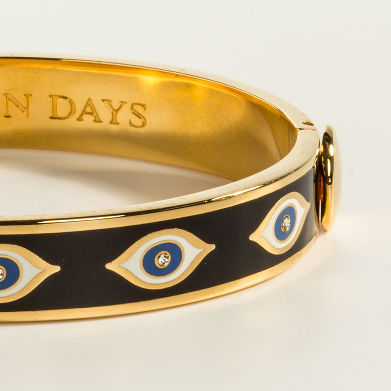 Evil Eye Midnight Blue & Gold Bangle