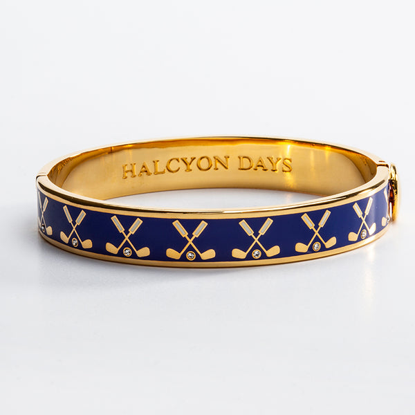 Golf Club Cobalt & Gold Bangle