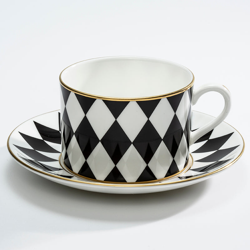 Parterre Black Tea Cup & Saucer Set of 6