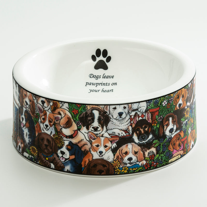 Dogs Leave Pawprints Large Bowl