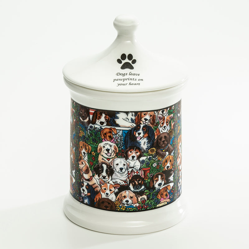 Dogs Leave Pawprints Large Treat Jar