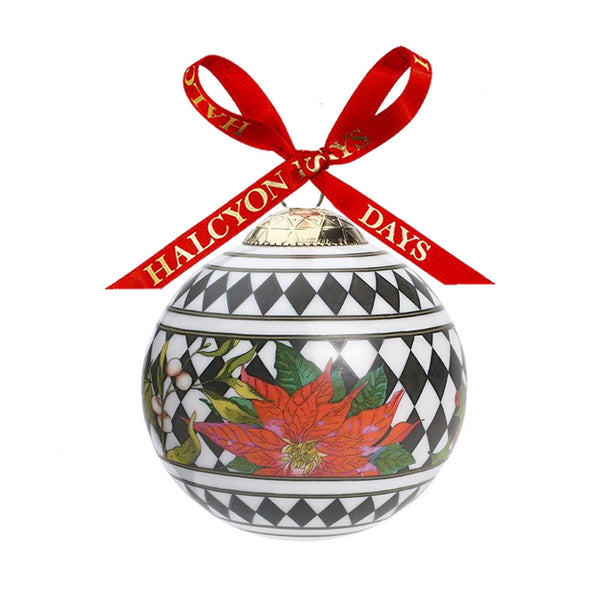 Parterre Black with Poinsettia Bauble