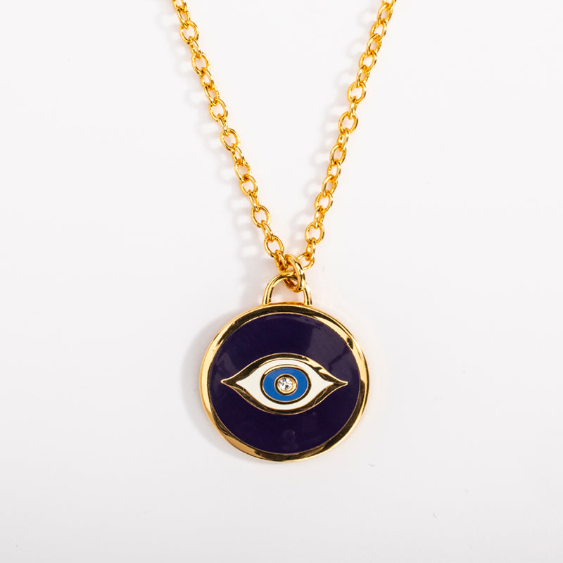 Evil Eye Sparkle Pendant Midnight Blue/Gold