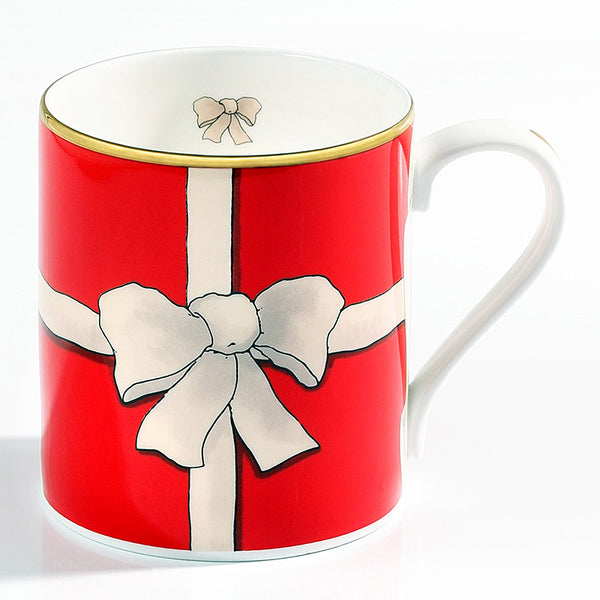 Ribbon Mug Red