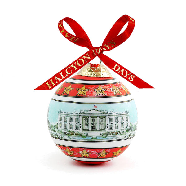 The White House in the Snow Bauble