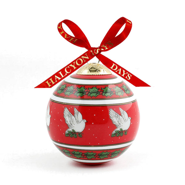 Dove Of Peace Bauble Red
