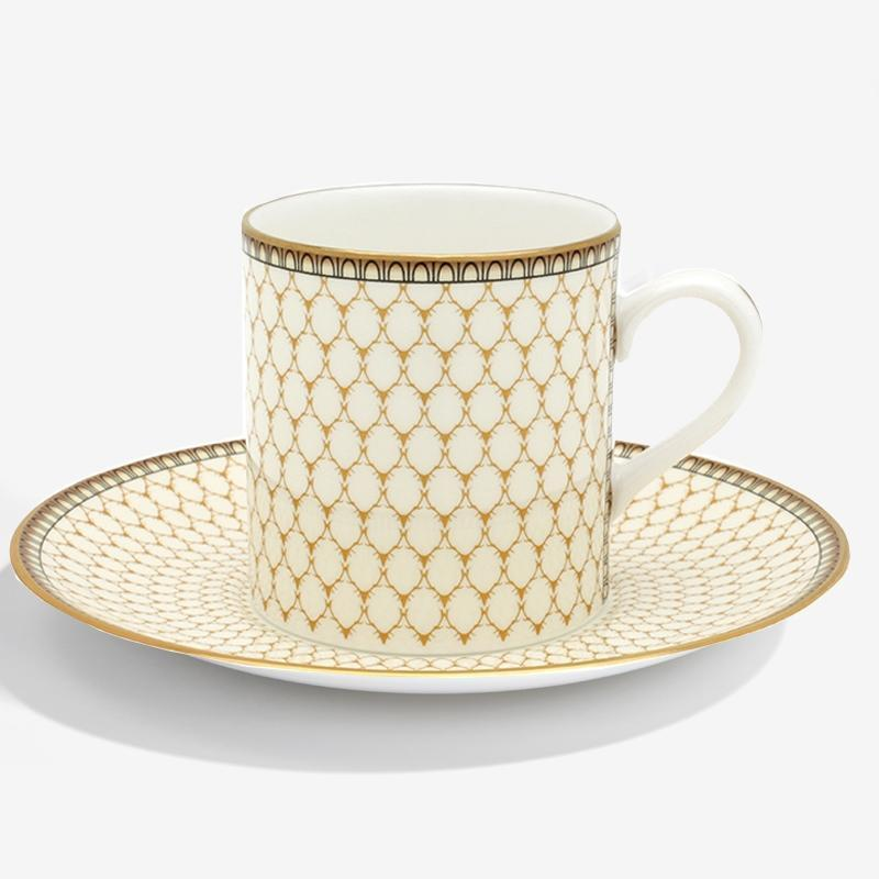 Antler Trellis Coffee Cup & Saucer Ivory