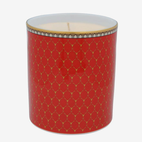 Antler Trellis Lavender Scented Filled Candle Red