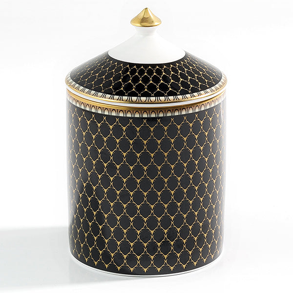 Antler Trellis Black Lidded Candle