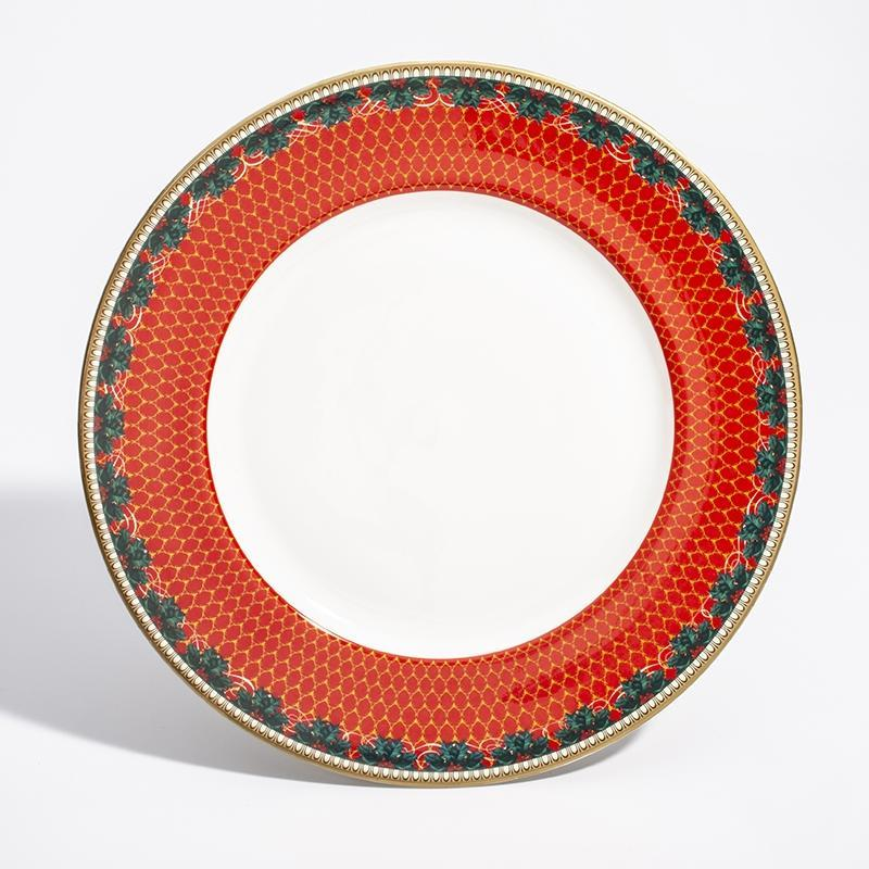 "Antler Trellis & Stag Red 10"" Plate"