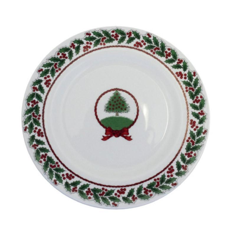 "Vintage Christmas Tree 6"" Plate White"