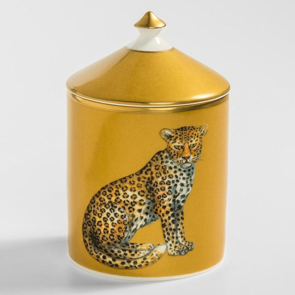 Leopard Gold Lidded Candle