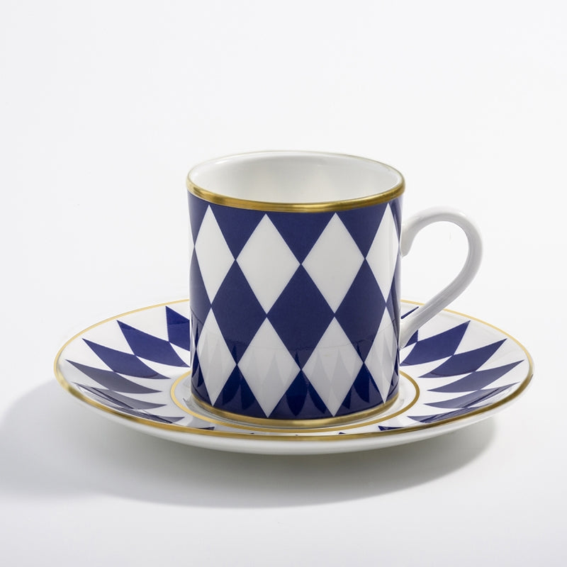 Parterre Midnight Coffee Cup & Saucer