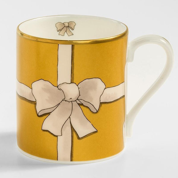 Ribbon Mug Gold