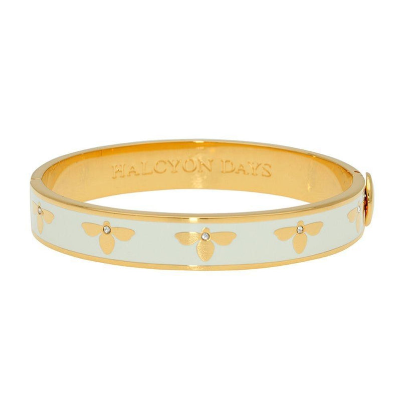 Bee Cream & Gold Bangle