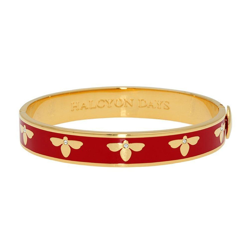 Bee Red & Gold Bangle