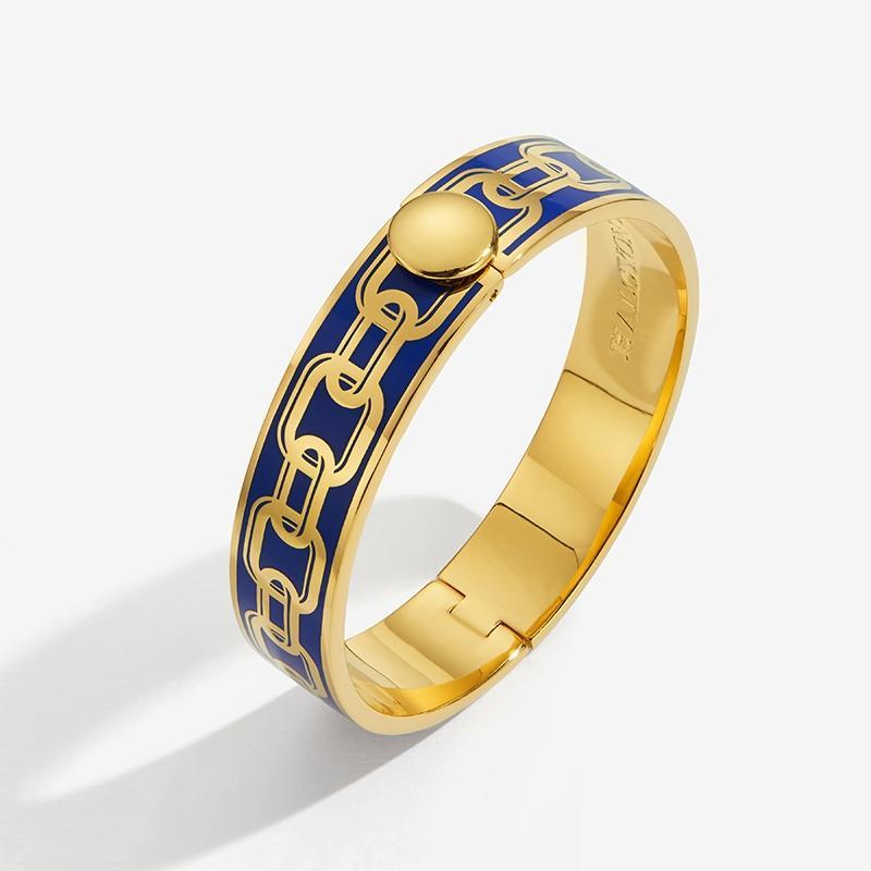 Chain Deep Cobalt & Gold Bangle
