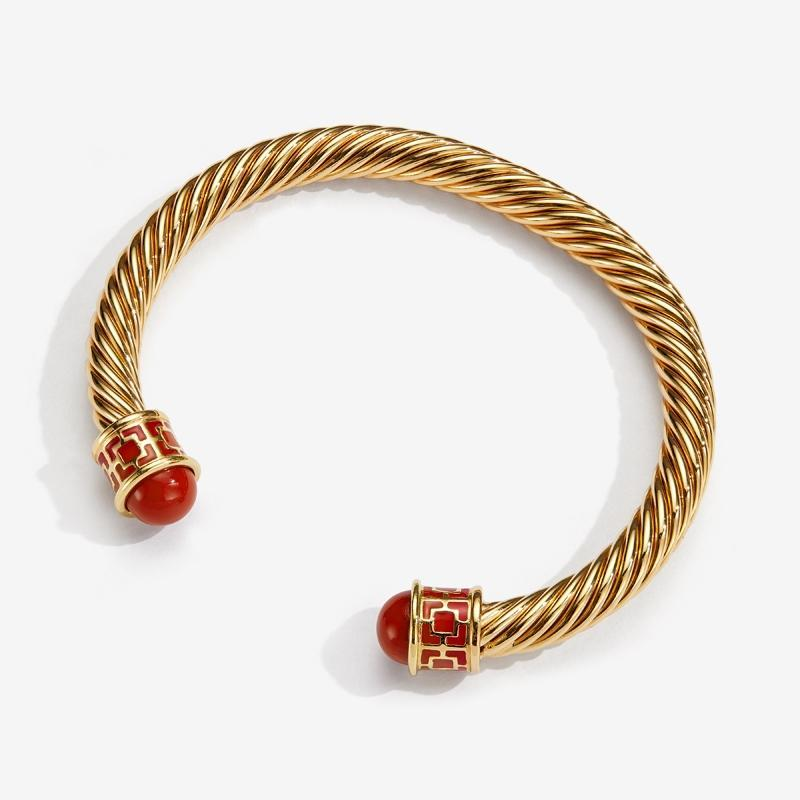 Maya Torque Red & Gold Bangle