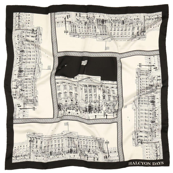 Buckingham Palace Black Silk Scarf