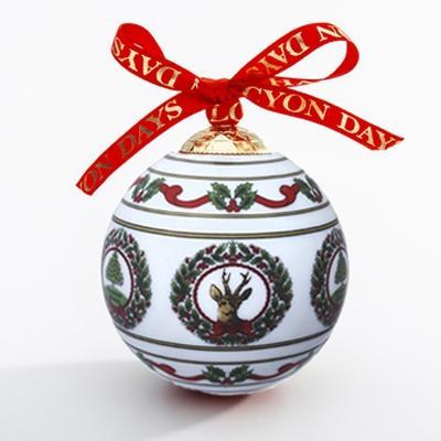 Vintage Christmas White Bauble