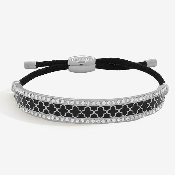 Agama Sparkle Black & Palladium Friendship Bangle
