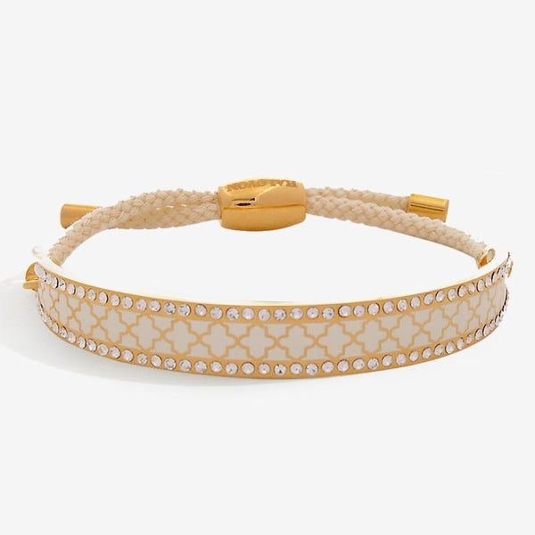 Agama Sparkle Cream & Gold Friendship Bangle