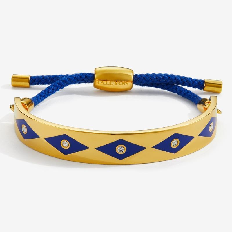 Sparkle Deep Cobalt & Gold Friendship Bangle