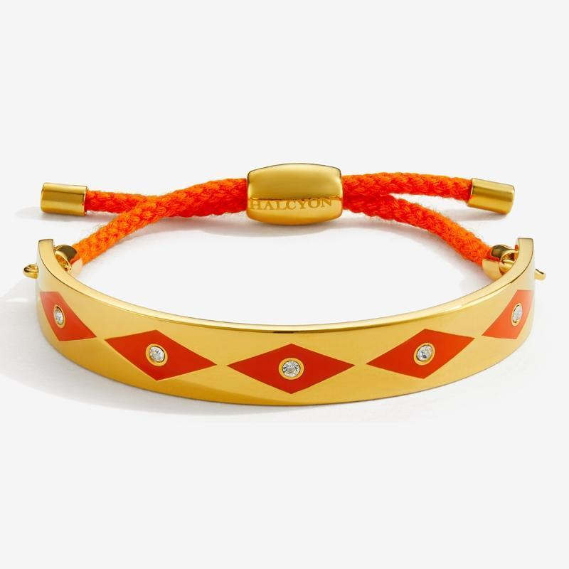 Sparkle Orange & Gold Friendship Bangle