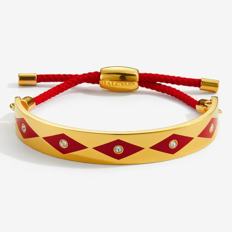 Sparkle Red & Gold Friendship Bangle