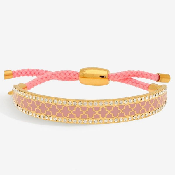Agama Sparkle Pink & Gold Friendship Bangle